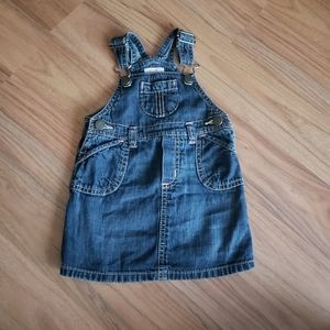 ⭐4/30⭐Old Navy   Jean overall dress - 6/12M